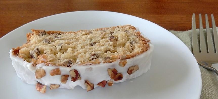 Slice of Maple Nut Cake on Plate