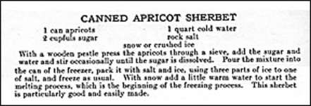 Recipe for Canned Apricot Sherbet