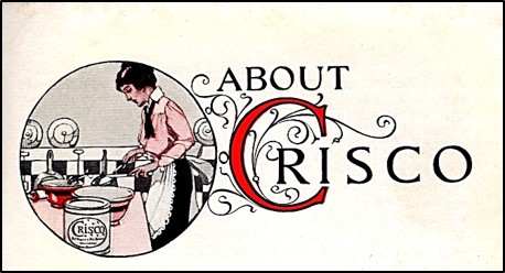 Image of woman baking and a can of Crisco