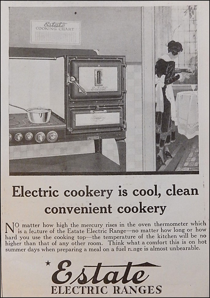 Advertisement of Estate Electric Range