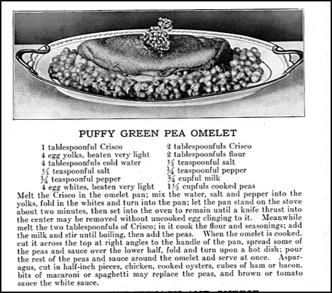 Recipe for Puffy Green Pea Omelet
