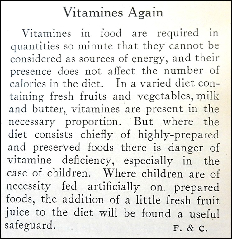Text Description of Vitamins