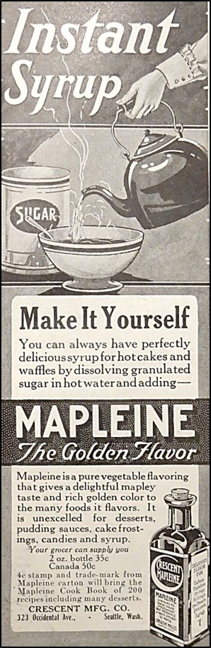 Advertisement for Mapleine