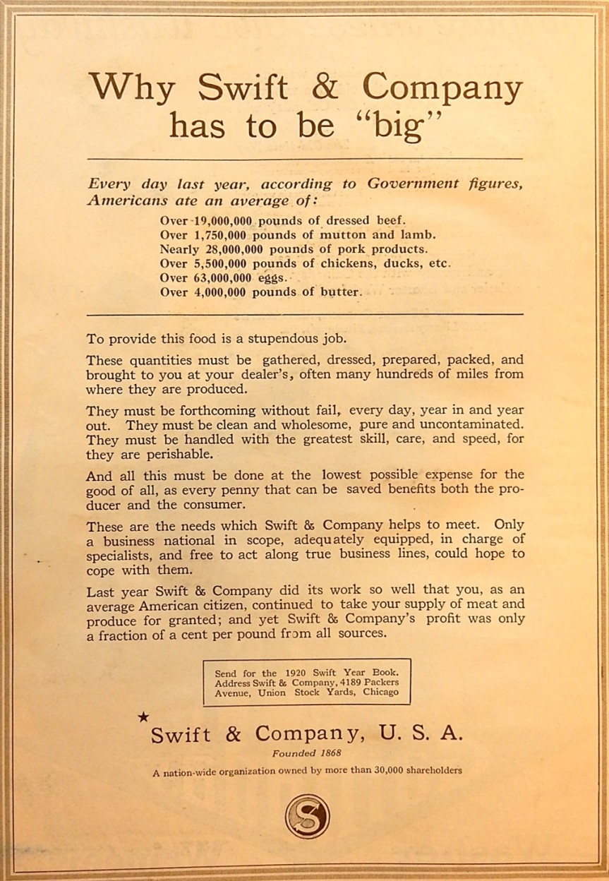 Swift and Company Advertisement