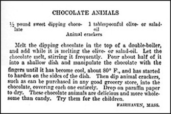 Recipe for Chocolate Animals