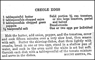 Recipe for Creole Eggs