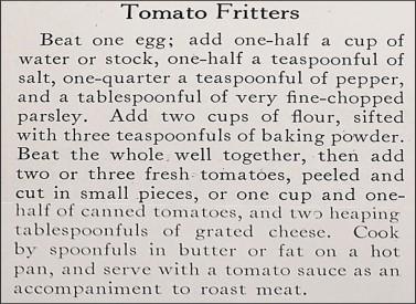 tomato fritter recipe