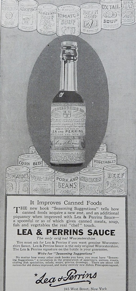 Advertisement for ea & Perrins Sauce