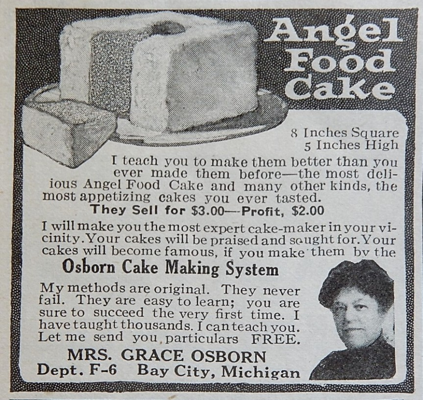 Advertisement for Osborn Cake Making System