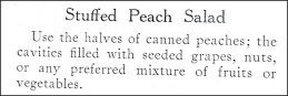 Recipe for Stuffed Peach Salad