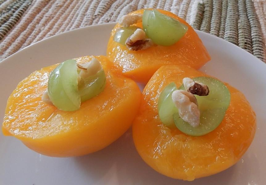 4 Stuffed Peach Halves