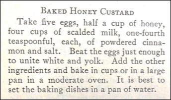 Recipe for Baked Honey Custard