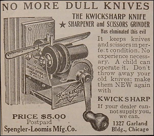 Advertisement for Kwicksharp Knife Sharpener