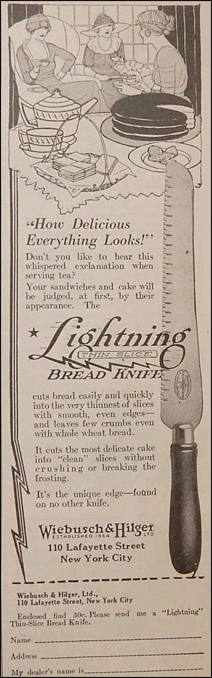 Advertisement for Lightning Bread Knife