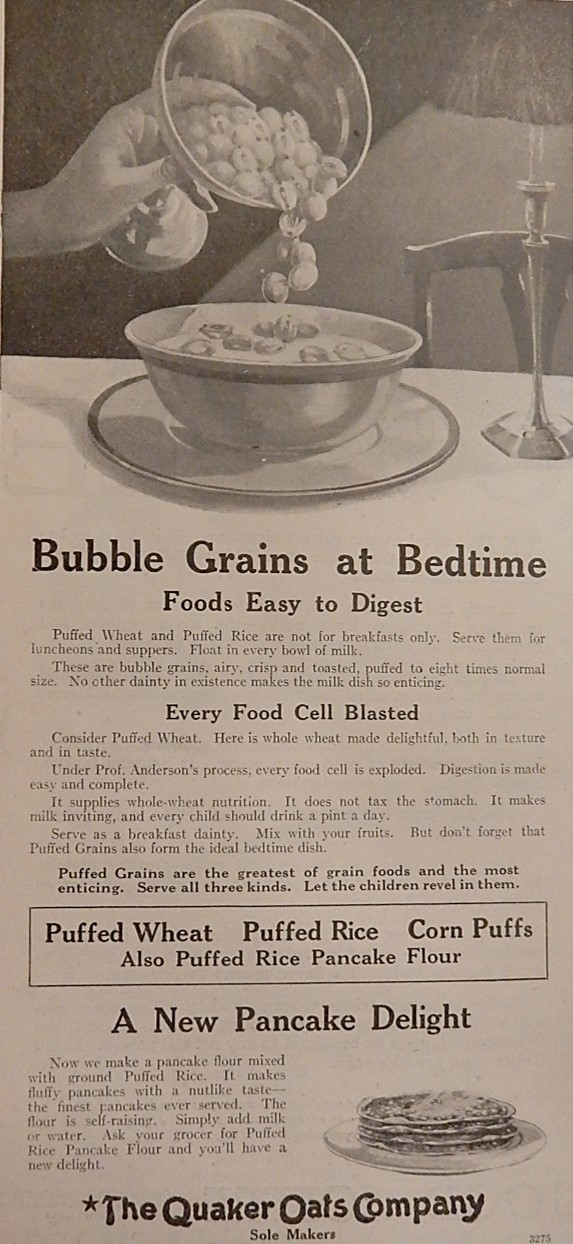 Advertisement for Puffed Grains