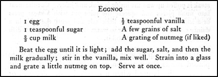 Recipe for Eggnot