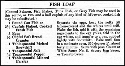 Recipe for Fish Loaf