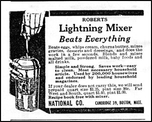 Lightning Mixer Advertisement