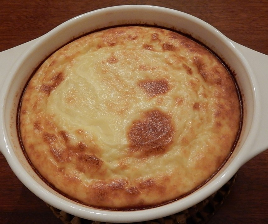 Onion Souffle in Casserole Dish