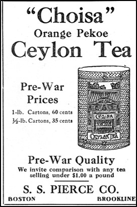 Advertisement for Choisa Tea