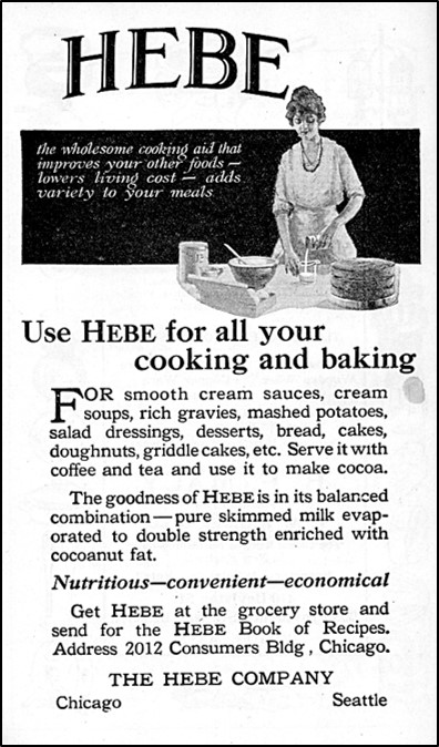 Advertisement for Hebe