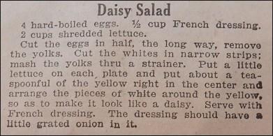 Daisy Salad on Plate