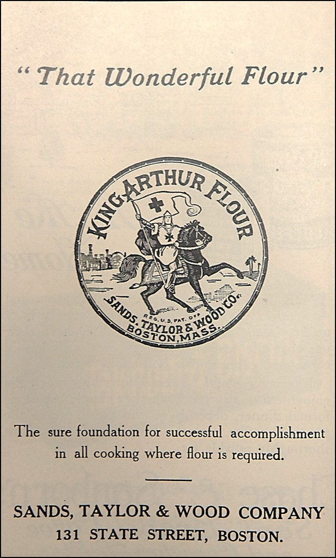 1921 Advertisement for King Arthur Flour