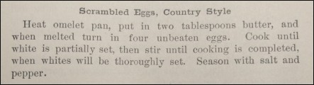 Recipe for Scrambled Eggs, Country Style