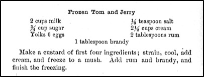 Recipe for Frozen Tom and Jerry