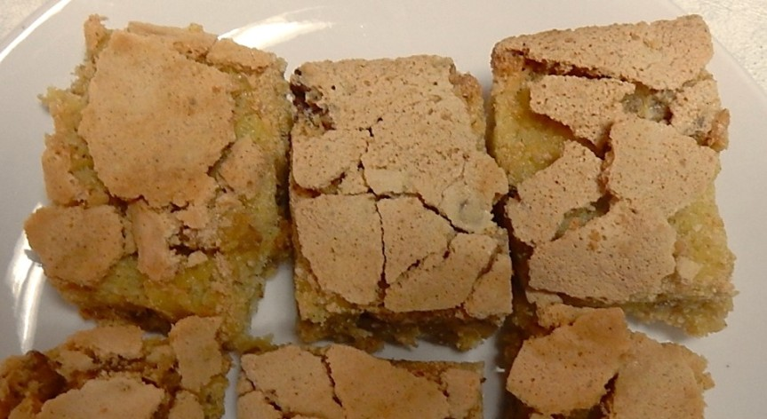 Nut Squares on Plate