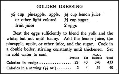 Recipe for Golden Dressing