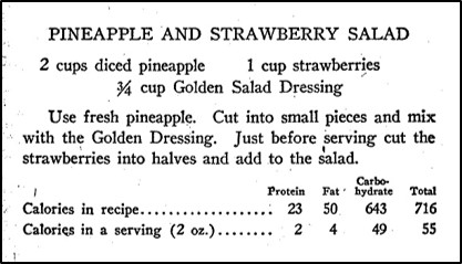 Recipe for Pineapple and Strawberry Salad