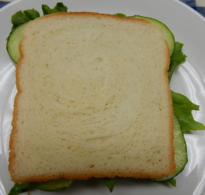 Cucumber Sandwich on Plate