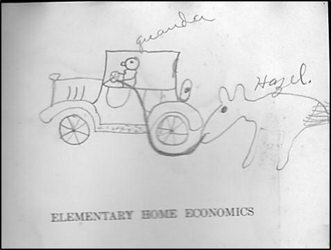 drawing in old textbook