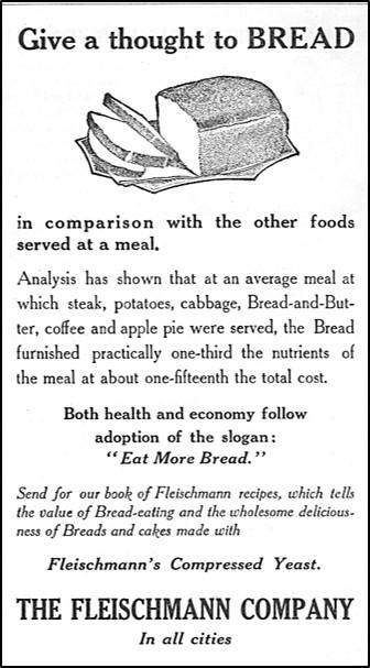 Advertisement for Fleischmann Yeast