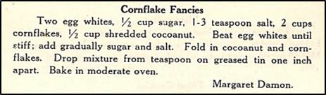 Recipe for Cornflake Fancies