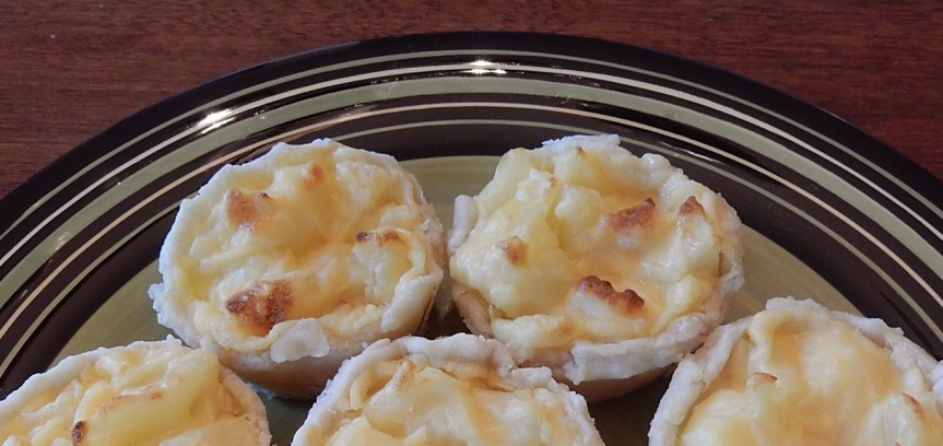 Potato Tarts a la Gratin on plate