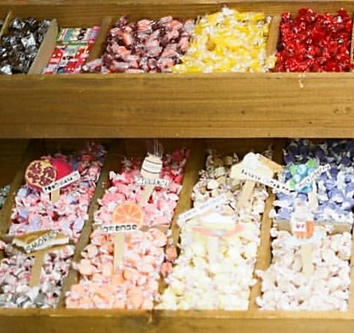 Candy in bins