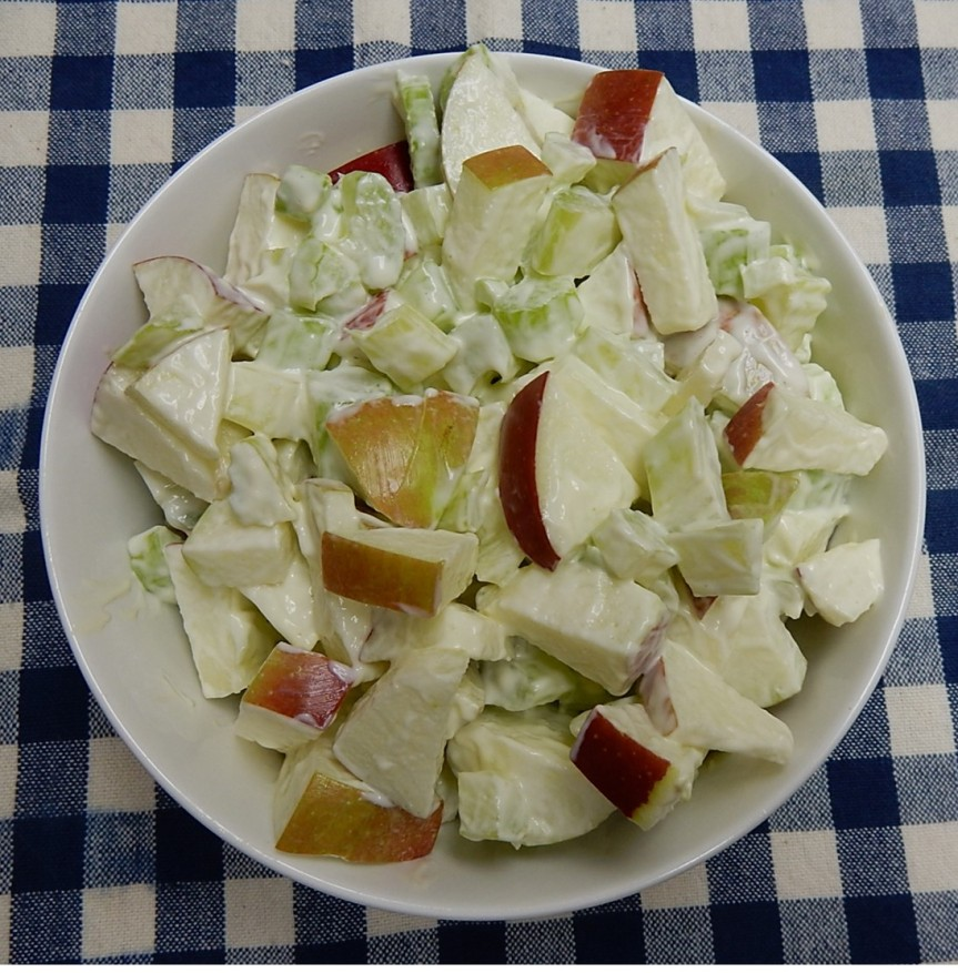 Celery and Apple Salad in dish