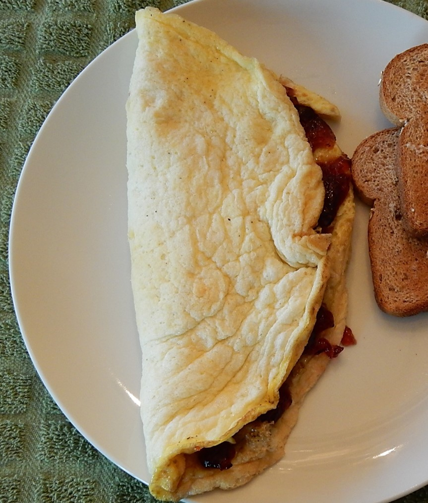 Jelly Omelet on plate