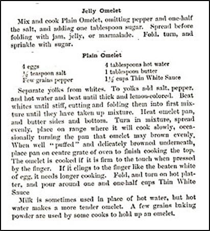Recipe for Jelly Omelet